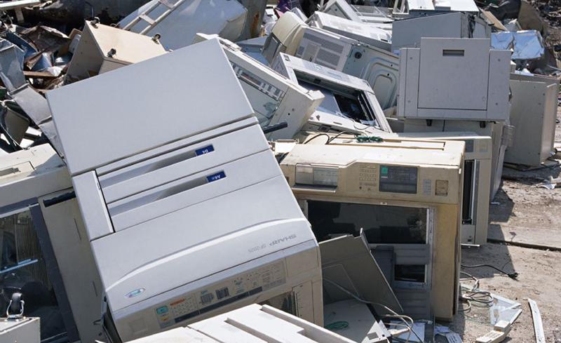废弃打印复印机拆解线